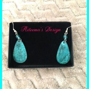 🆕🎉Drop Metal AquaBlue Earrings